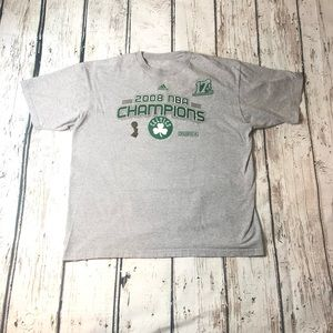 2008 Boston Celtics T-Shirt NBA Champions Adidas
